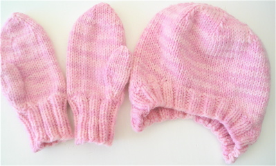 Preschool Auction Hat/Mitten set