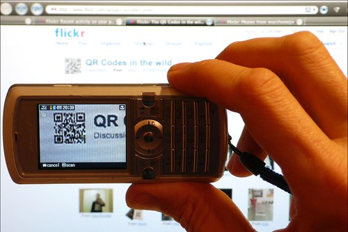 taking a photo of a QR Code with a mobile phone