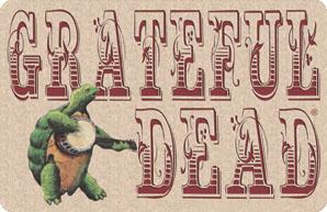 Woodcut Grateful Dead terrapin brown thing dealie