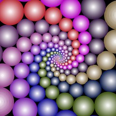 Indra's Pearls / Doyle Spirals (fdecomite) Tags: computer spiral geometry math fractal pearl doyle indra generated ity infin imagej