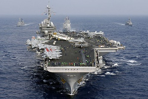 Japan Maritime Self-Defense Forces & U.S. Navy by US Navy.