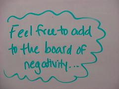 Board of negativity