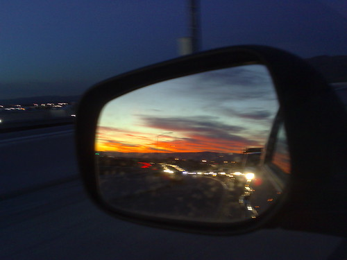 sunset from the 237-880 interchange