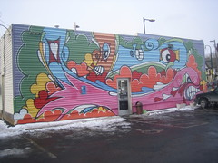 Dunn Bros Mural by Eric Inkala