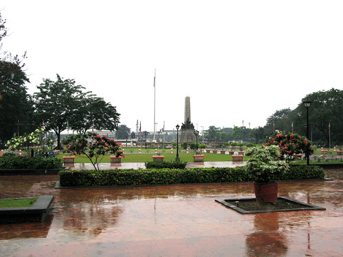 Rizal Park in the rain