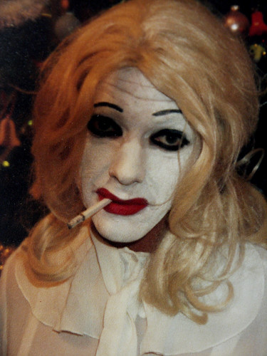 Cliffy as bette davis in 'Whatever happened to Baby jane'