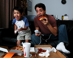 Bachelor pad (fd) Tags: family starwars son games pizza darthvader legostarwars wii