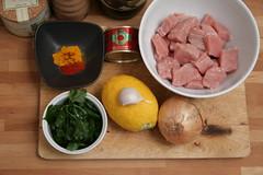 Ingrédients pour un tajine de veau au citron