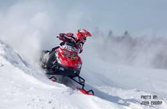 Snowcross Looking Back (CrumpJ) Tags: snow cold air racing iq sled polaris snowcross