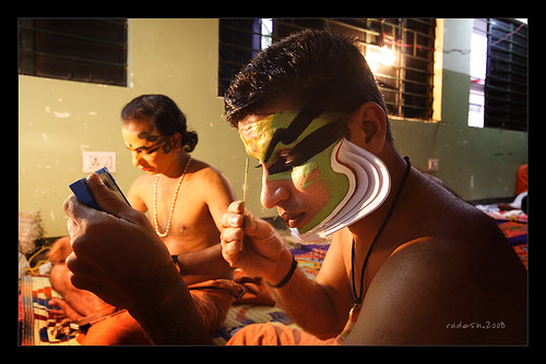 Men at Makeup, Kathakali