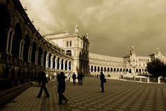 Plaza Espaa Sevilla (carlostjex) Tags: street people espaa cute monument landscape reflex amazing nice interesting sevilla spain nikon foto bonito creative picture andalucia best cielo bonita monumentos interesante beautifull creativa d40 mywinners goldstaraward porestaibriafora
