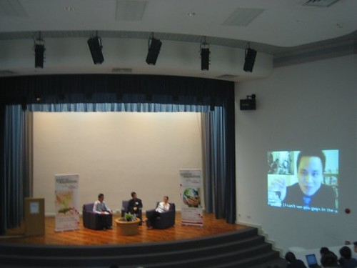 Our Web 2.0 panel at Startup@Singapore