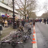 Fahrradniederlegung - einspurig
