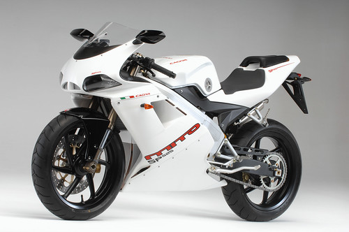 Three years ago, at the EICMA motorcycle show, Cagiva launched a race-tuned