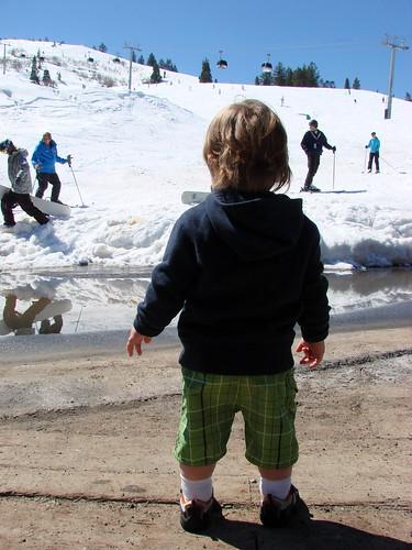 last weekend to ski.