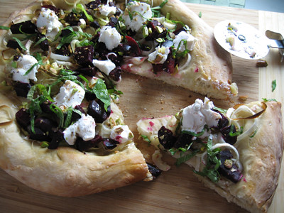 Beet, Leek and Goat Cheese Pizza