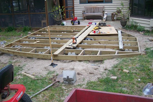 correct way to build ground level deck doityourself com community