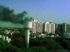Diesel Tank Blast (Harsh Mangal`) Tags: trees india buildings fire accident pollution blast carbondioxide waterreservoir dieseltank