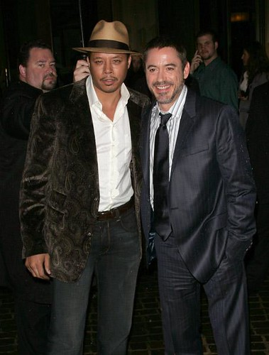Terrence Howard and Robert Downey Jr.