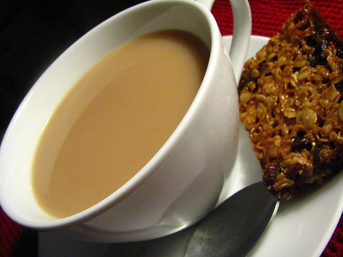 Tea and Cranberry Flapjack