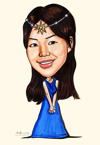 Caricature princess cutout