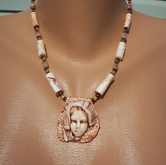 Faux Ivory Peasant Woman (clayangel_sc) Tags: art beauty fashion one necklace beads artist handmade originalart ooak polymerclay fimo clay gift bracelet faux sculpey handcrafted wearableart accessories bracelets earrings etsy acessories brooches necklaces polymer millefiori transfers antiquing artjewelry hypoallergenic adornments artisanjewelry canework handmadebeads artbeads handcraftedbeads pcagoe notpainted polymerclayjewelry oneofakindjewelry fauxjewelry southcarolinaartist jewelryartisan boldjewelry clayangel oneofakindpiece clayangelsc nopaintisinvolved finising