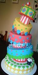 Bolo Circo (The Cake is on the Table) Tags: circo circus clown falling bolo dizzy palhao torto