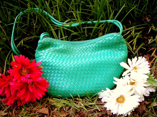 electric green slouch bag
