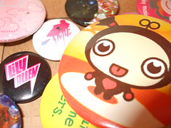 My badges (Dark Gonk) Tags: dalek colourful badges pucca lillyallen riotofcolours