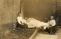In bed in the garden (lovedaylemon) Tags: vintage garden found bed image health tb illness