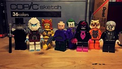 The Injustice Gang (LordAllo) Tags: lego dc justice league unlimited injustice gang shade ultra humanite cheetah lex luthor joker star sapphire copperhead solomon grundy