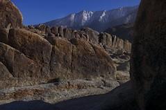 Eastern Sierras from the Alabama Hills (Matt Grans Photography) Tags: snow nature pine landscape ilovenature nikon rocks desert boulders wilderness eastern alabamahills d90 sierrassierrasmountainslone