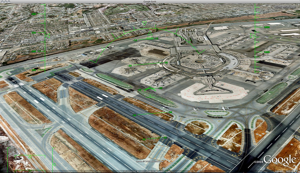 Google Earth's Flight Sim