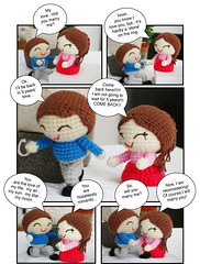 [bizarre marriage proposal] will you marry me? (saplanet originals) Tags: fun comicstrip crochetpattern crochetdolls