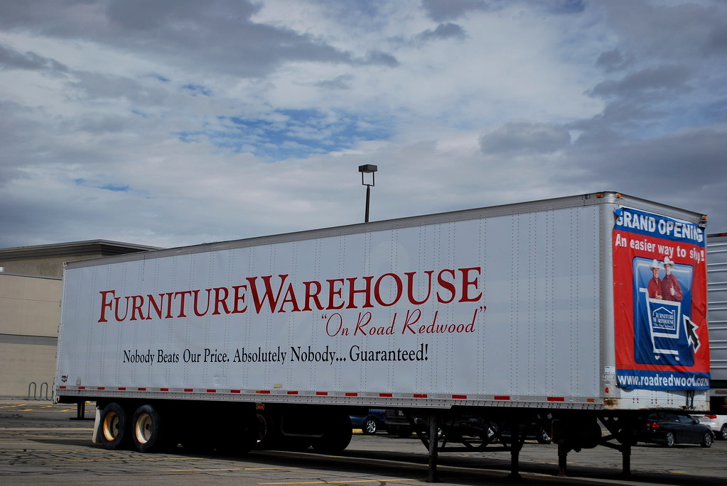 Former Fred Meyer now Furniture Warehouse truck