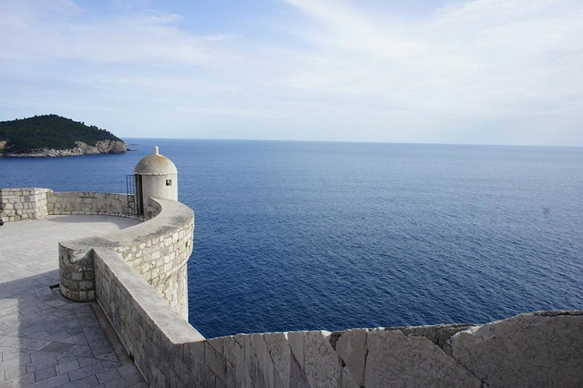 Dubrovnik - View of sea from the walls