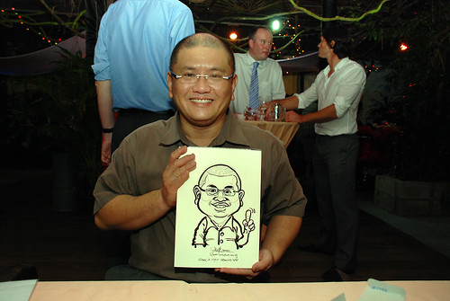 Caricature live sketching for Mark and Ivy's wedding solemization - 14