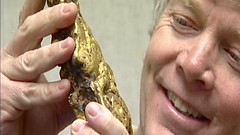 Fred Holabird with gold nugget