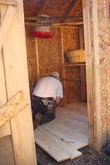 Fixing the chicken coop floor