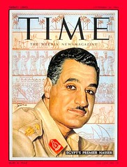 President Nasser on the cover of the time for the first time (Kodak Agfa) Tags: people history media egypt cover magazines timemagazine egyptians coverboy