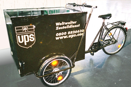 UPS delivery bike, Amsterdam