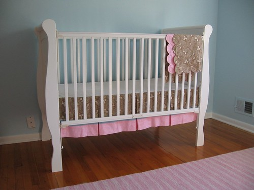 Crib with skirt