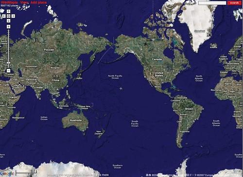 Wikimapiaのインターフェース