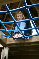 Maddie at the Top of the Treehouse