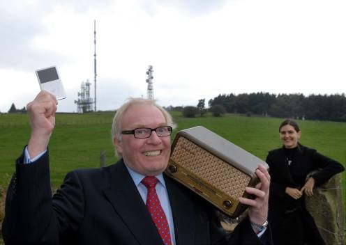 Mike Neville Launches AV Festival theme as 'Broadcast' at Pontop Pike transmitter