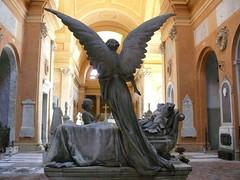 veglia (cinzia_t) Tags: cemetery graveyard statue angel lumix panasonic bologna angelo statua cimitero fz50 certosa certosadibologna cinziat theperfectphotographer