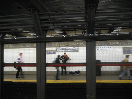 Subway viola improvisation: L train station at 1st Avenue