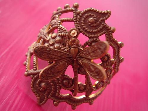 Libelula Dragonfly Ring Hand made