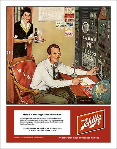 Schlitz Beer Ad 1952