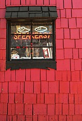 I always feel like... (Darwin Bell) Tags: red window wall shingles zeitgeist speakeasy mywinners colourartaward artlegacy thegalleryoffinephotography